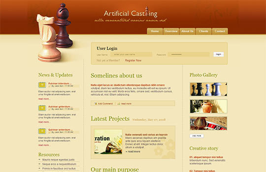 websites design templates free