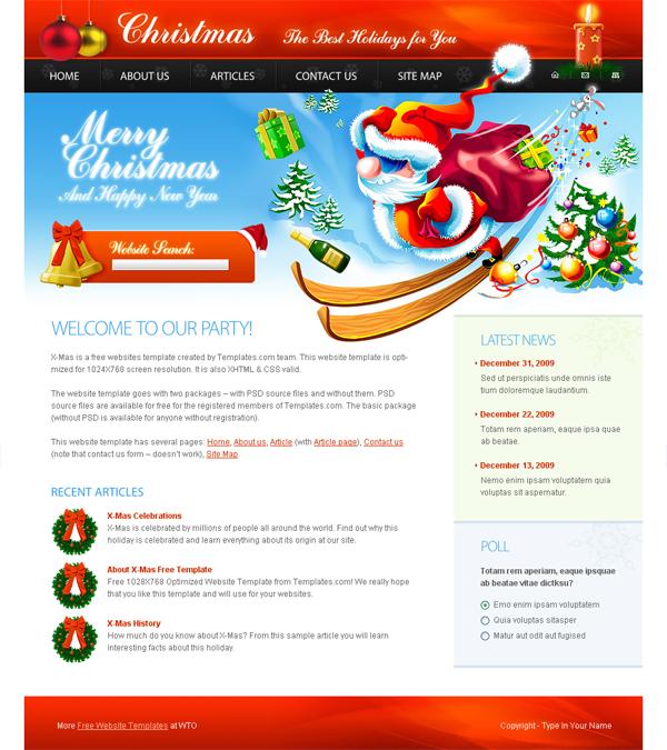 christmas program template
