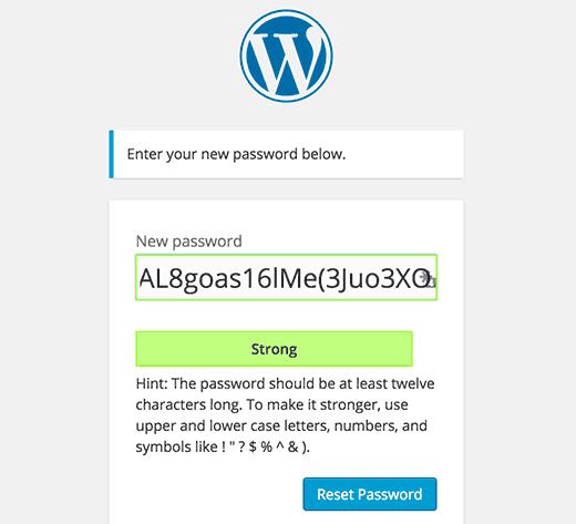 wordpress-sifre
